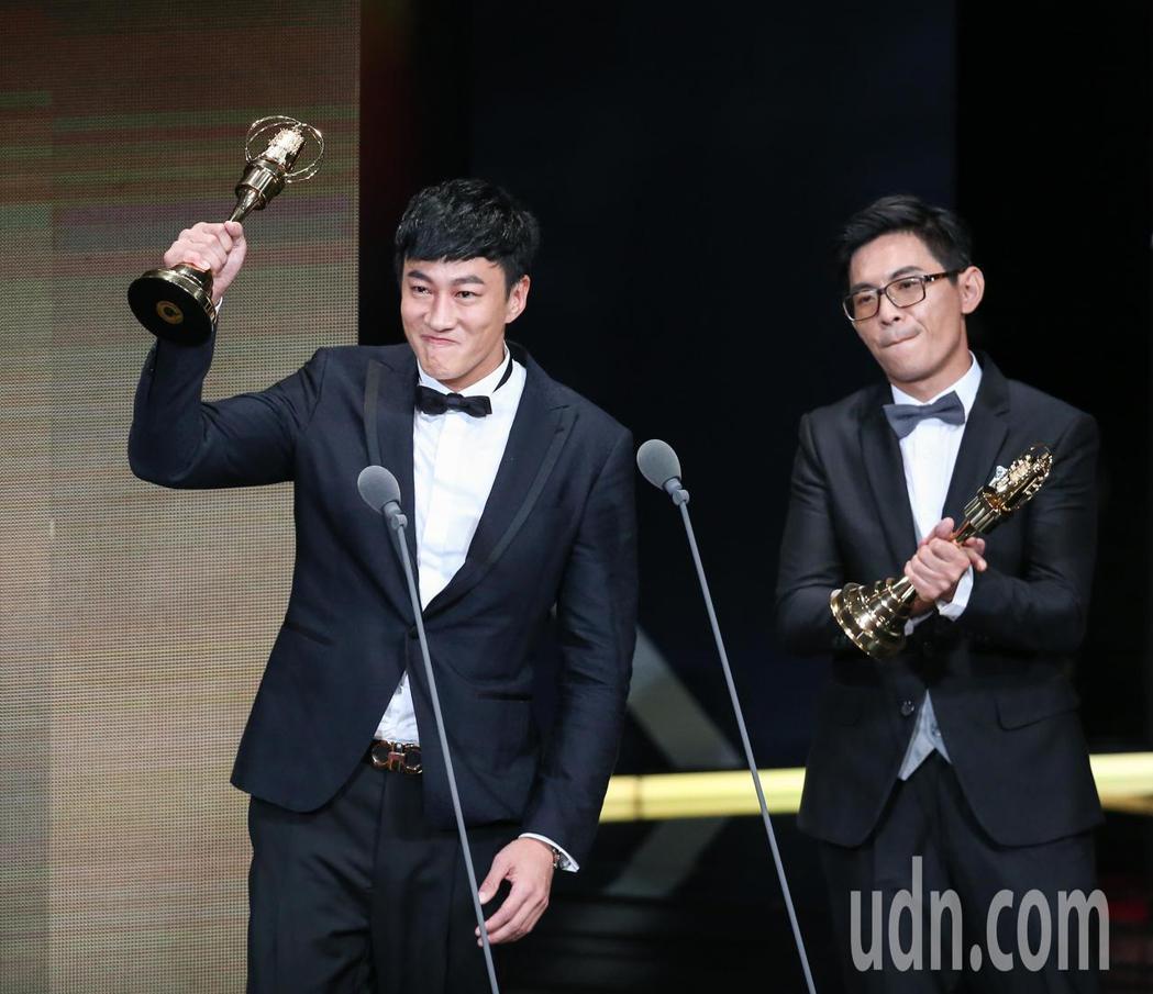 何潤東(左)獲戲劇節目導演獎。記者林澔一/攝影