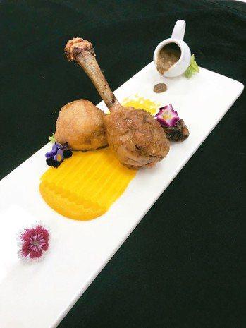 鳳梨菱角燒雞