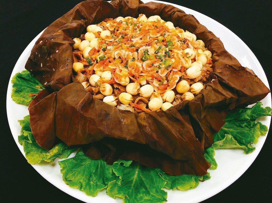 櫻花蝦蓮子米糕