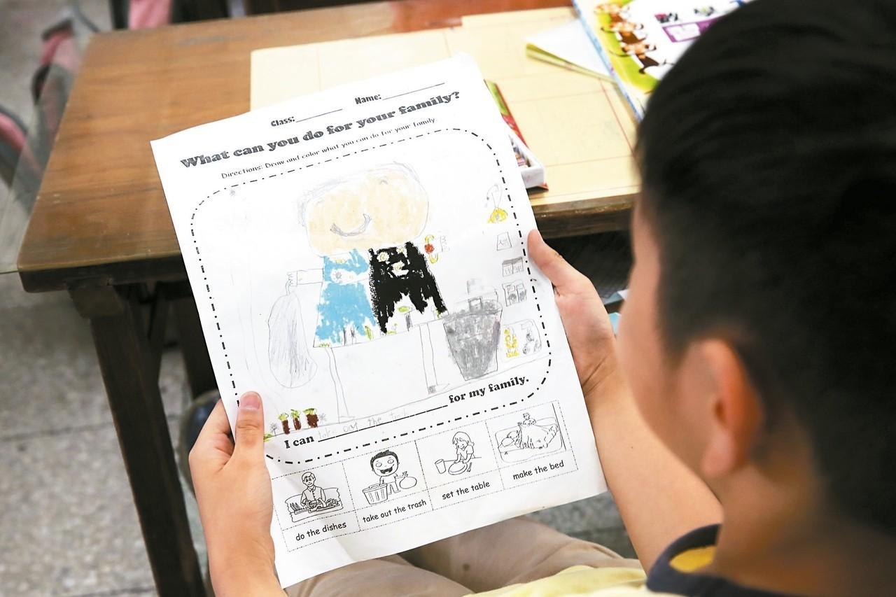 圖為東新國小雙語教學現場。 報系資料照