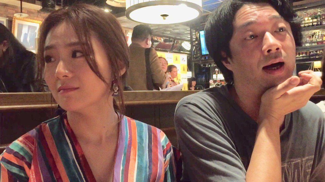 「台北歌手」導演樓一安(右)為莫子儀沒拿到視帝抱屈,旁為楊小黎。記者陳慧貞/攝影
