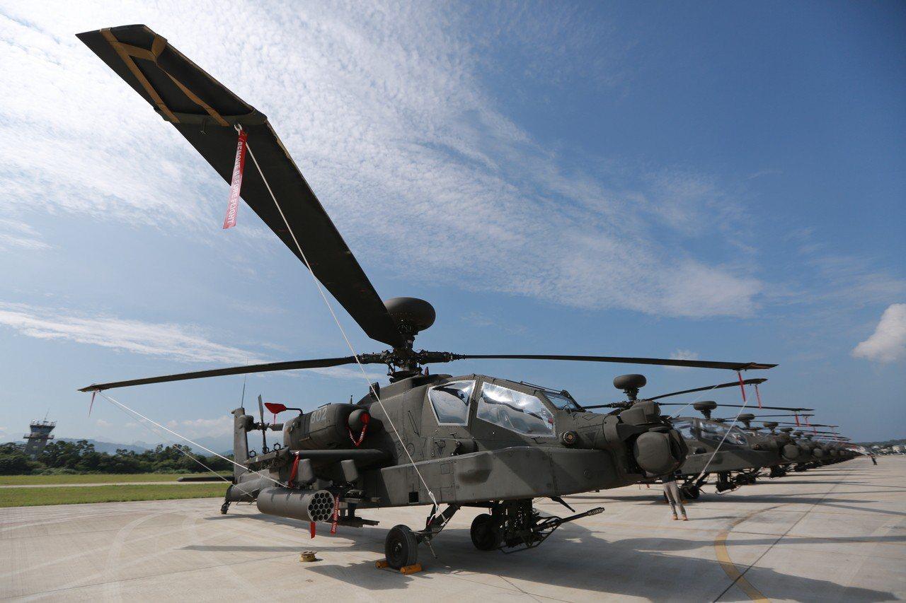 陸軍對美採購包括AH-64E阿帕契攻擊直升機在內的攻擊直升機與相關武器裝備,但因...