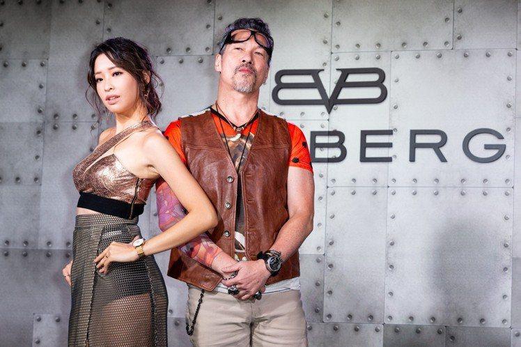 男星黃仲崑(右)以及歌手袁詠琳(左),日前為了潮流腕表品牌Bomberg的新系列...