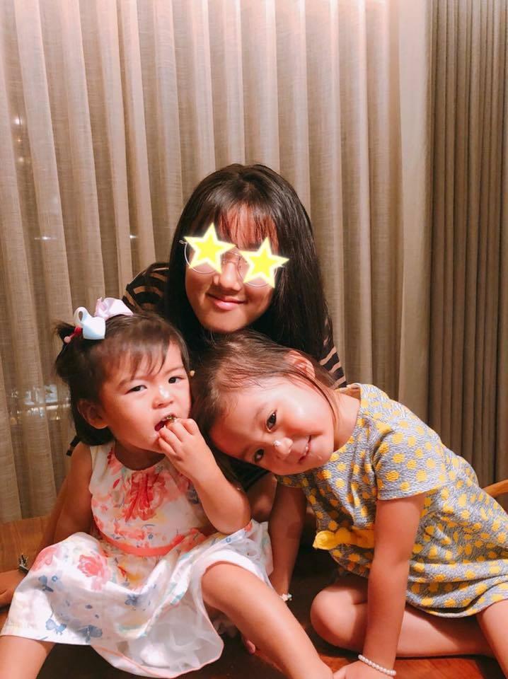 賈靜雯形容3個女兒各有特色。圖/摘自臉書