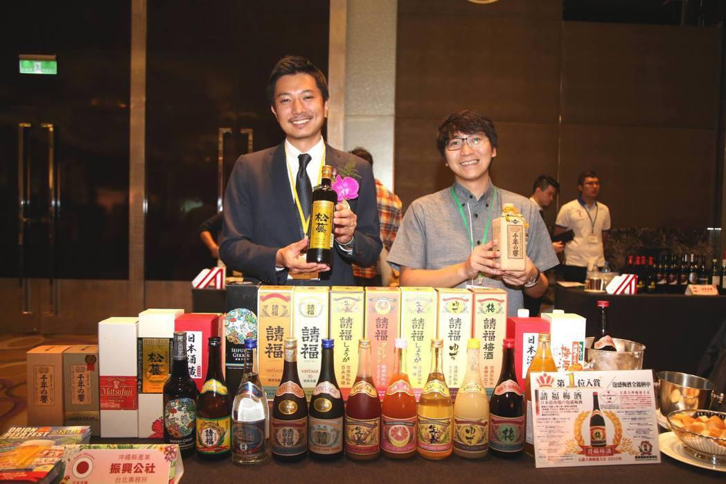 日本酒攤位。