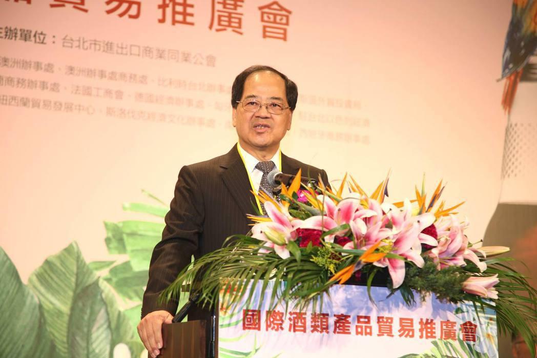 台北市進出口公會副理事長凃如肯表示,「2018年國際酒類產品貿易推廣會」有助於瞭...