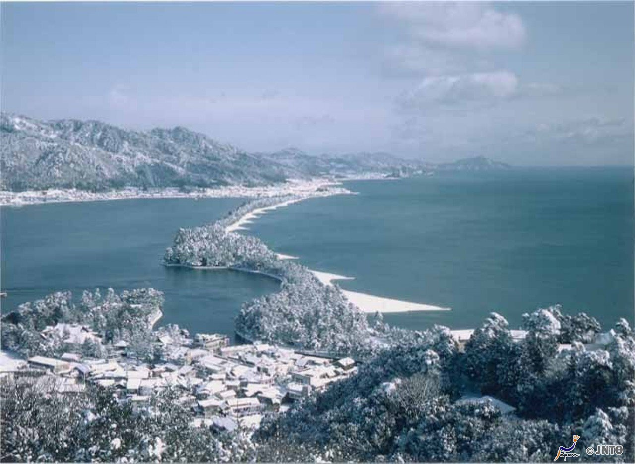 ▲美山町合掌村周邊景點-京都天橋立冬景。(圖/©Kyoto Prefecture...