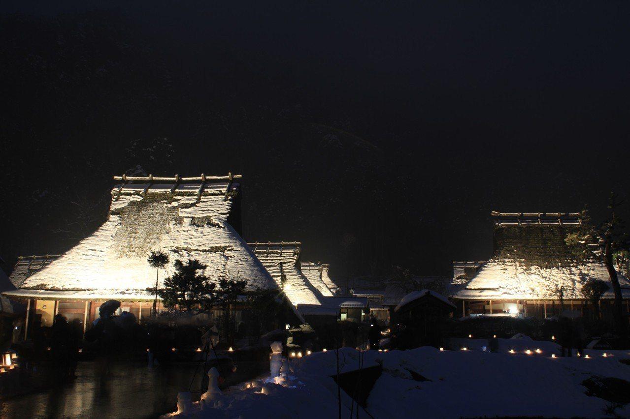 ▲京都美山町合掌村-雪燈廊。(圖/森之京都DMO)