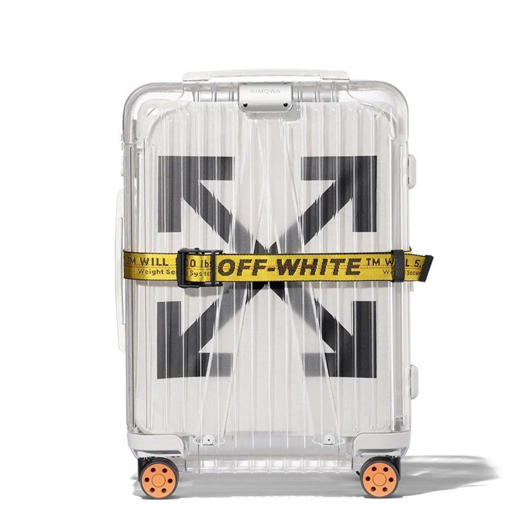 RIMOWA和Off-White聯名的白色透明旅行箱,售價近43,000元,亞洲...