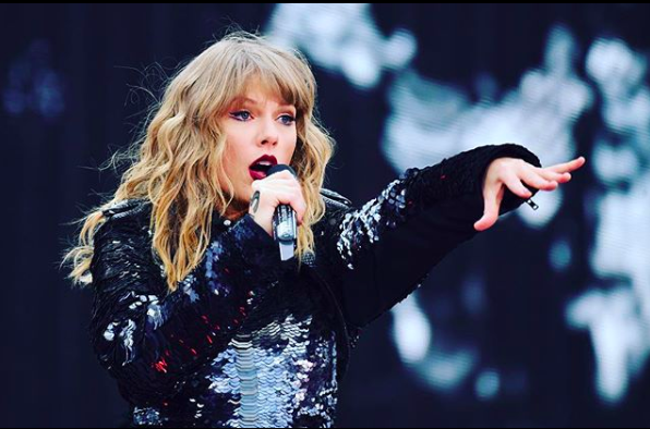 美國鄉村小天后泰勒絲(Taylor Swift)。取自泰勒絲IG