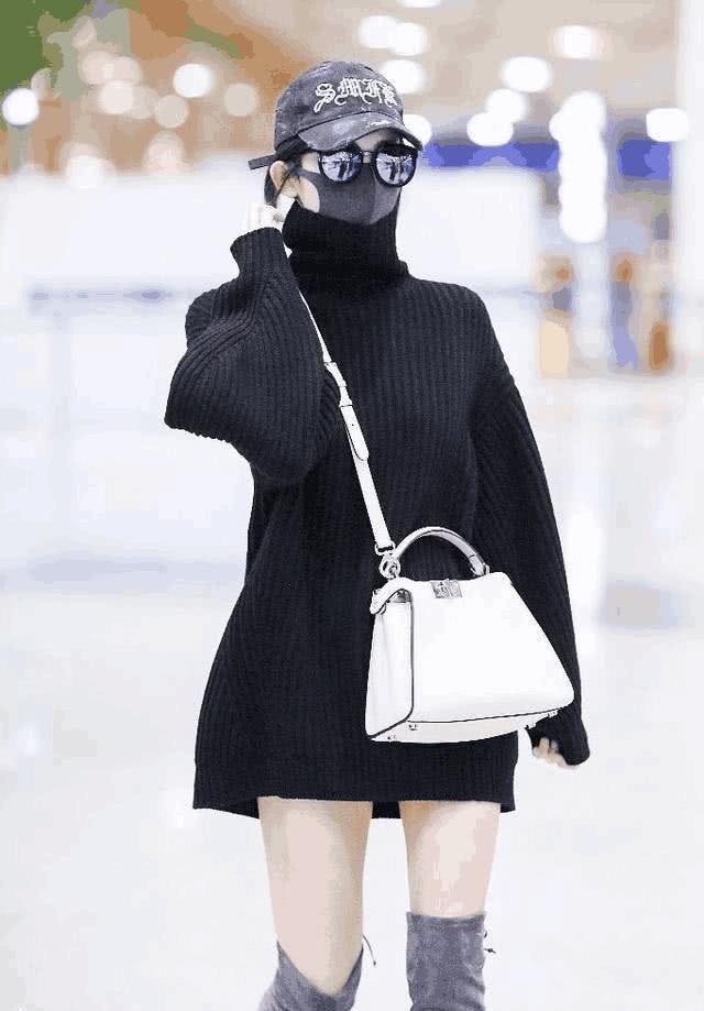 古力娜扎私服造型偏愛戴帽子。圖/摘自微博
