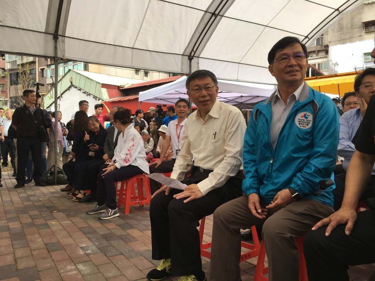 台北市長柯文哲昨出席「國順(大同388)公園」啟用活動。記者張世杰/攝影