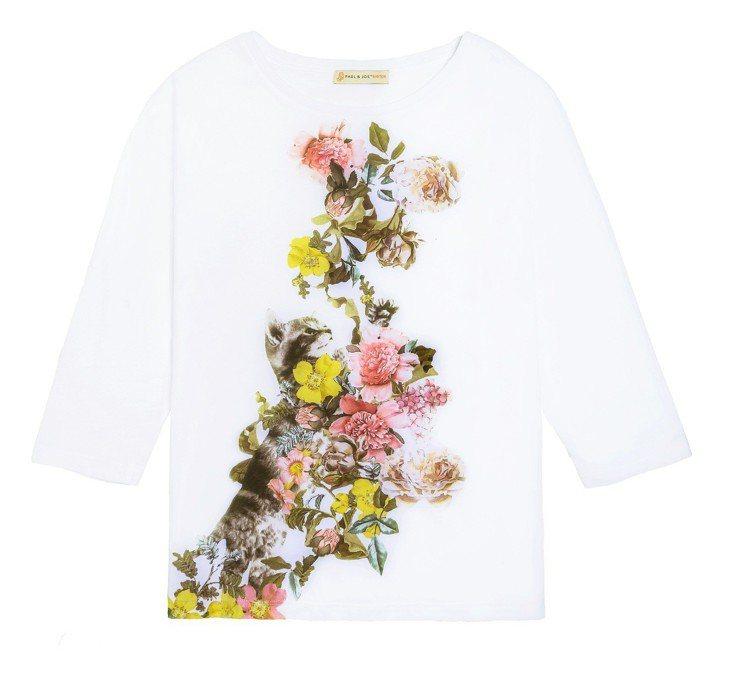 Paul & Joe Sister台灣獨家系列印花T恤 (白) 5,800元。圖...