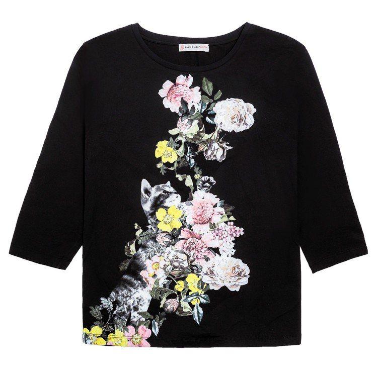 Paul & Joe Sister台灣獨家系列印花T恤 (黑) 5,800元。圖...