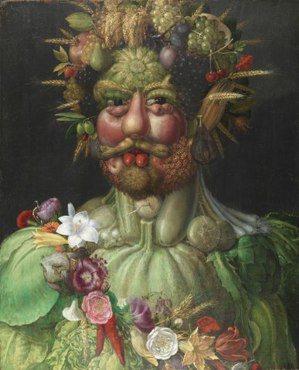 阿爾欽博多還有一幅畫名為《蔬菜的畫像》〈Portrait with Vegeta...
