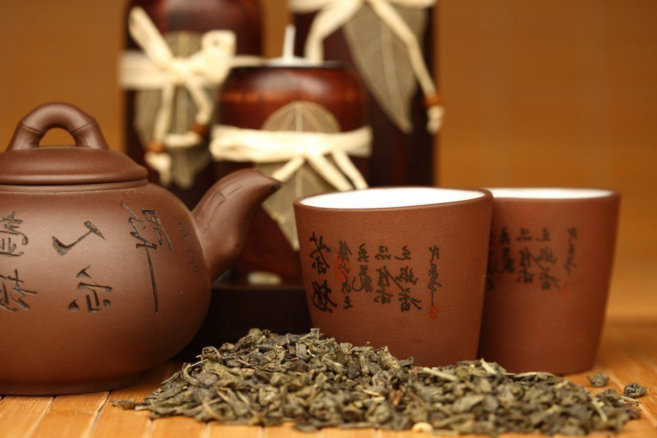 喝茶、茶飲示意圖。ingimage