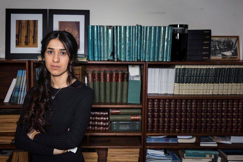 本屆諾貝爾和平獎得主之一娜迪雅・穆拉德。 圖/路透社