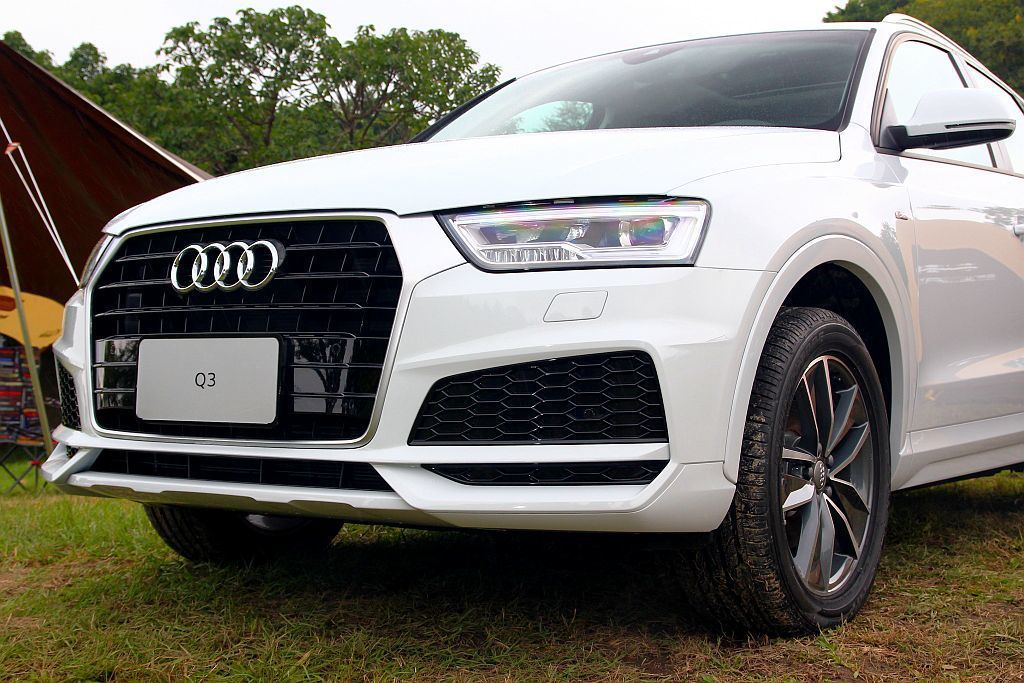 Audi Q3精彩無限版將S line外觀套件列為標配。 記者張振群/攝影