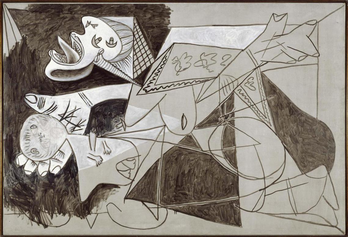 被遺忘的真相就等於死了?圖為畢卡索的名畫格爾尼卡後記,母親與死去的孩子。 圖/畢...
