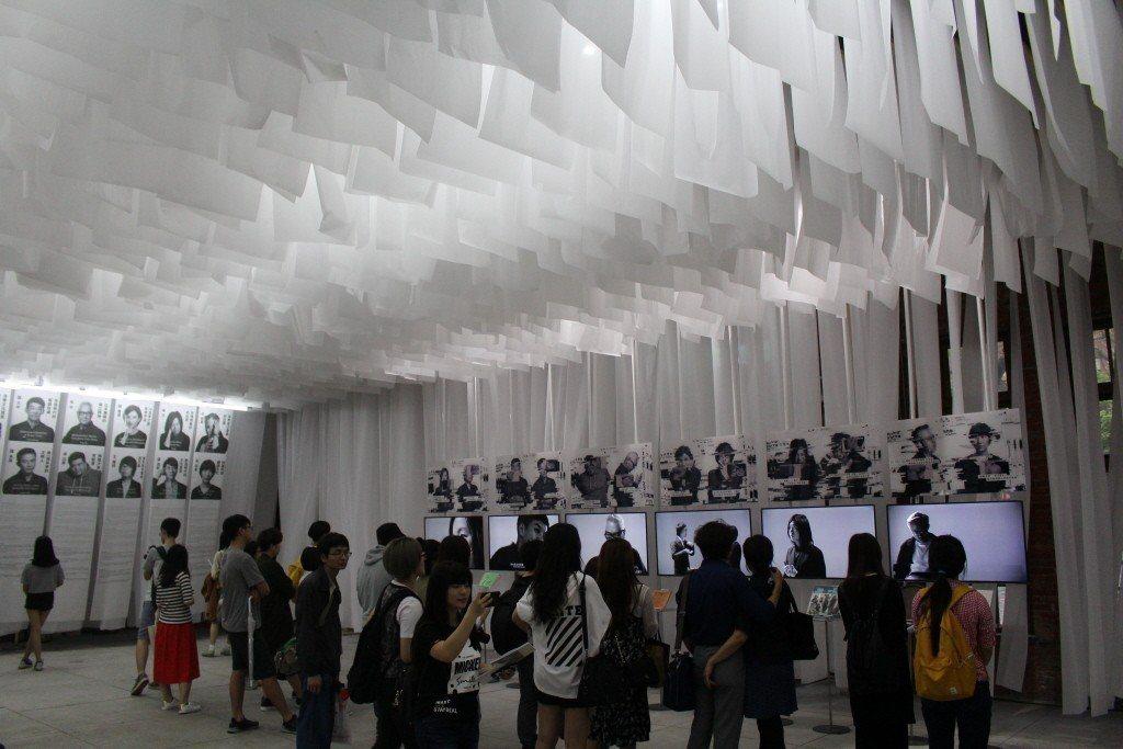 2017台灣文博會主題館「我們在文化裡爆炸」。 圖片來源/聯合報系