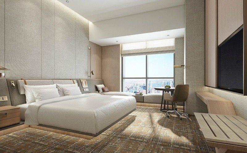 深具現代設計魅力的客房