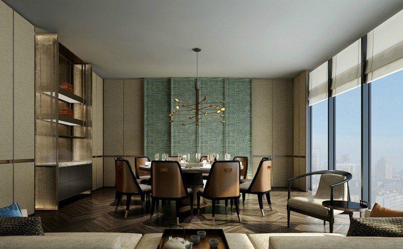 青雅中餐廳私人包廂,最多可容納26人用餐