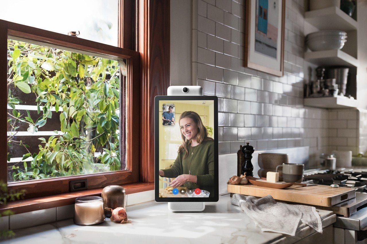 臉書8日推出旗下第一款首款智慧喇叭Portal 與Portal+,內建用戶偵測系...