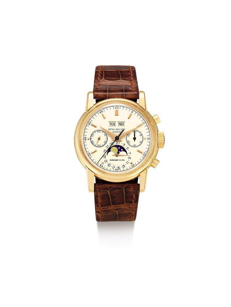 蘇富比秋拍成就亞洲拍賣史上最貴腕表:一枚百達翡麗 2499 型號罕有粉紅金萬年曆...