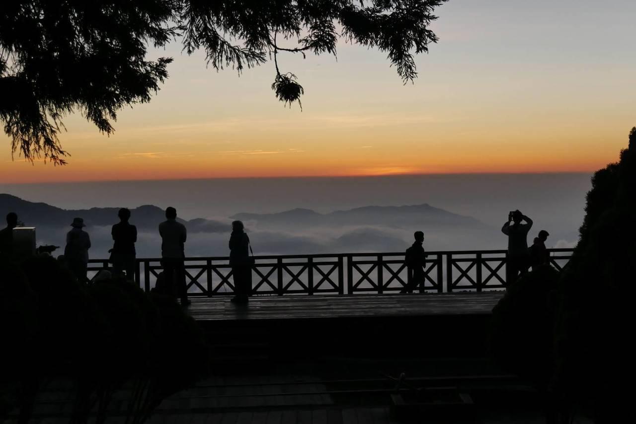 二萬坪看雲海和夕陽。圖/戴岳樵提供