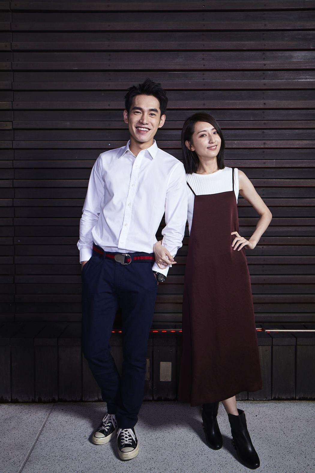 張書豪(左)、柯佳嬿主演「如果愛,重來」。圖/歐銻銻娛樂提供