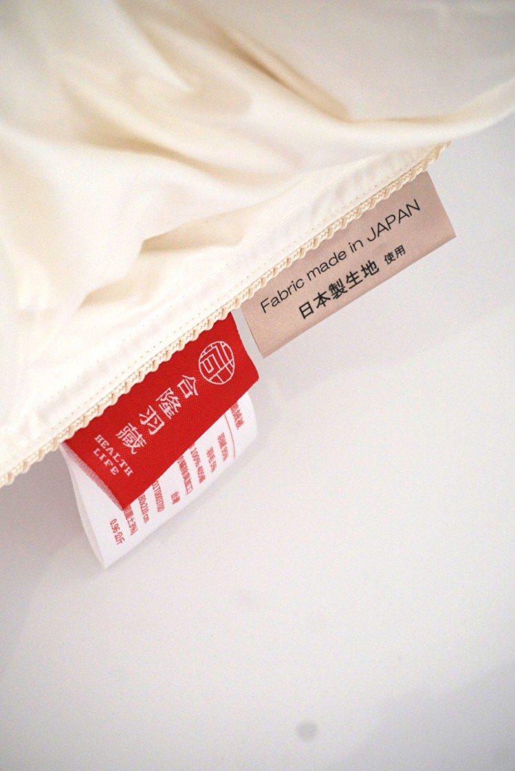 3大系列被款提供了不同羽絨類型、填充量、表布材質供消費者選擇。記者黃筱晴/攝影