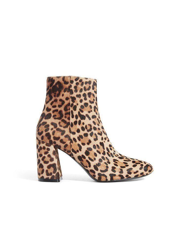 馬毛豹紋短靴,價格店洽。圖/Alice + Olivia提供