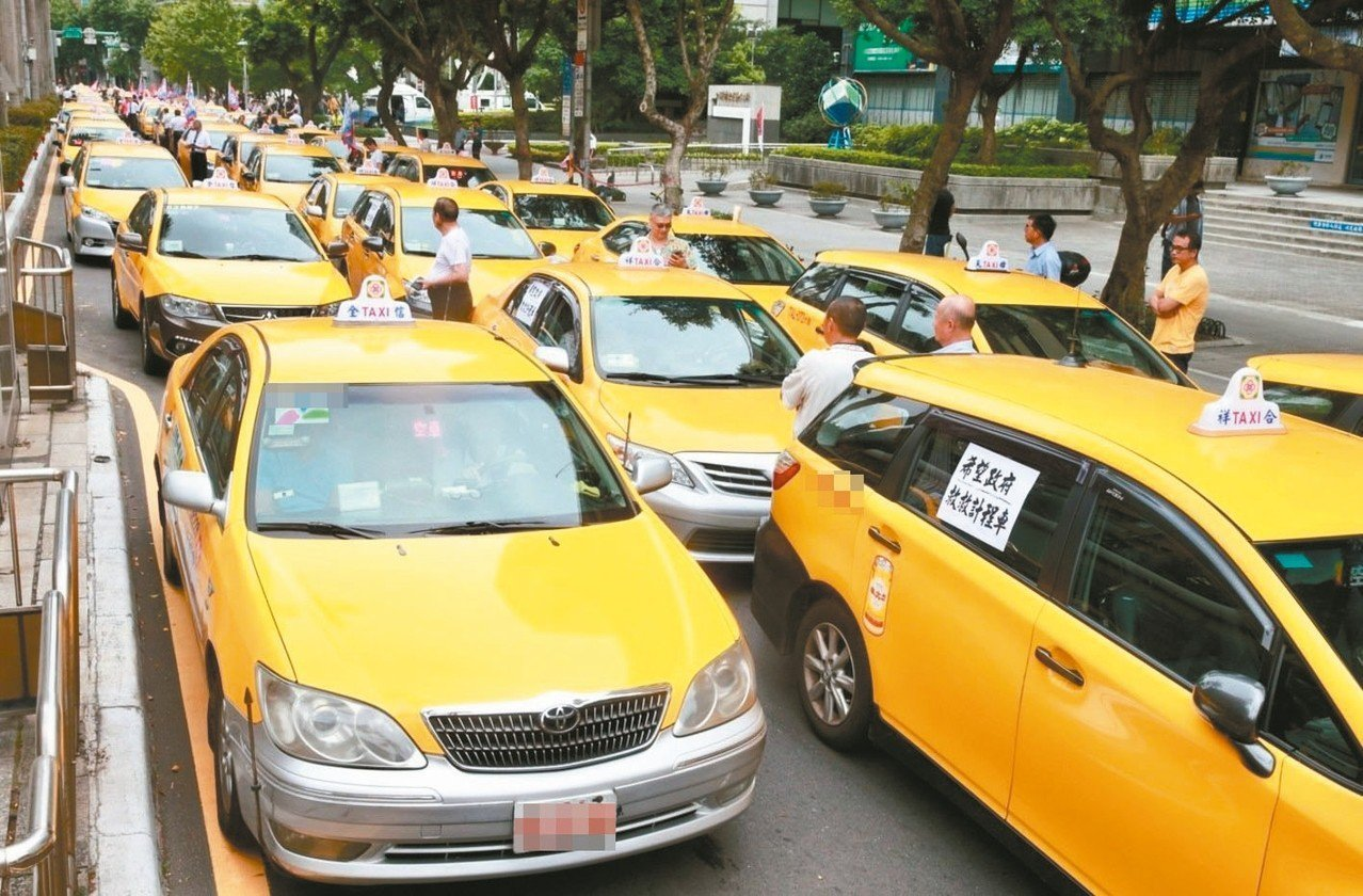 計程車醞釀再發起抗爭活動。 圖╱聯合報系資料照片