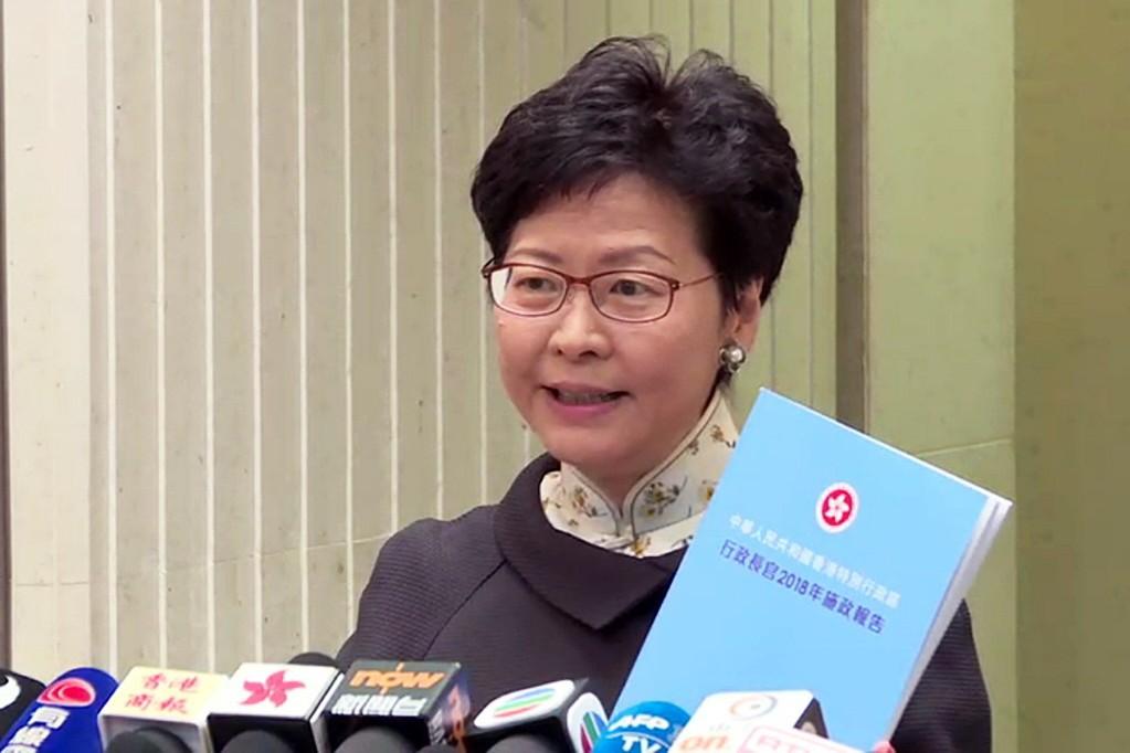 香港行政長官(特首)林鄭月娥近日在施政報告等陳述中表達不會容忍「港獨」。 中通社