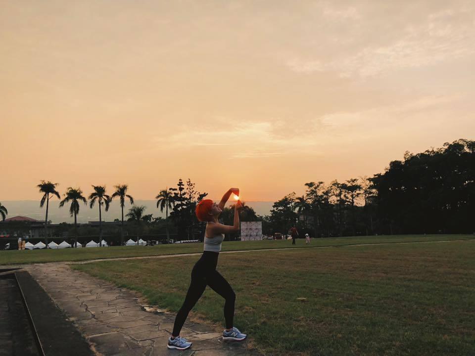 林彥君分享跑步照。圖/擷自林彥君臉書