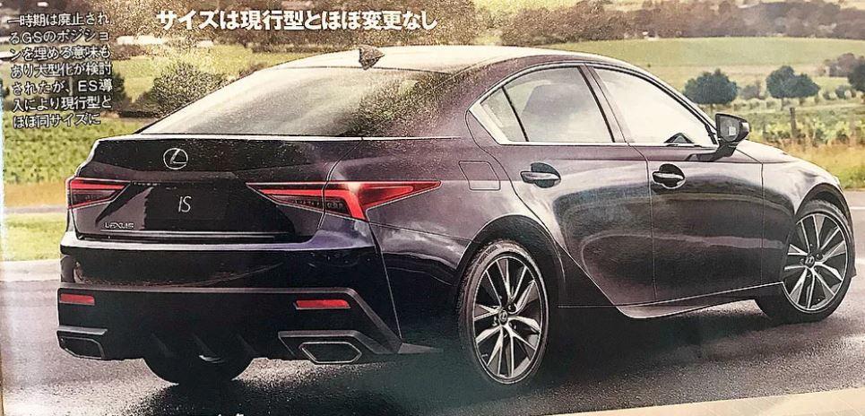 車尾風格與旗艦車型LS相仿。 摘自lexusenthusiast