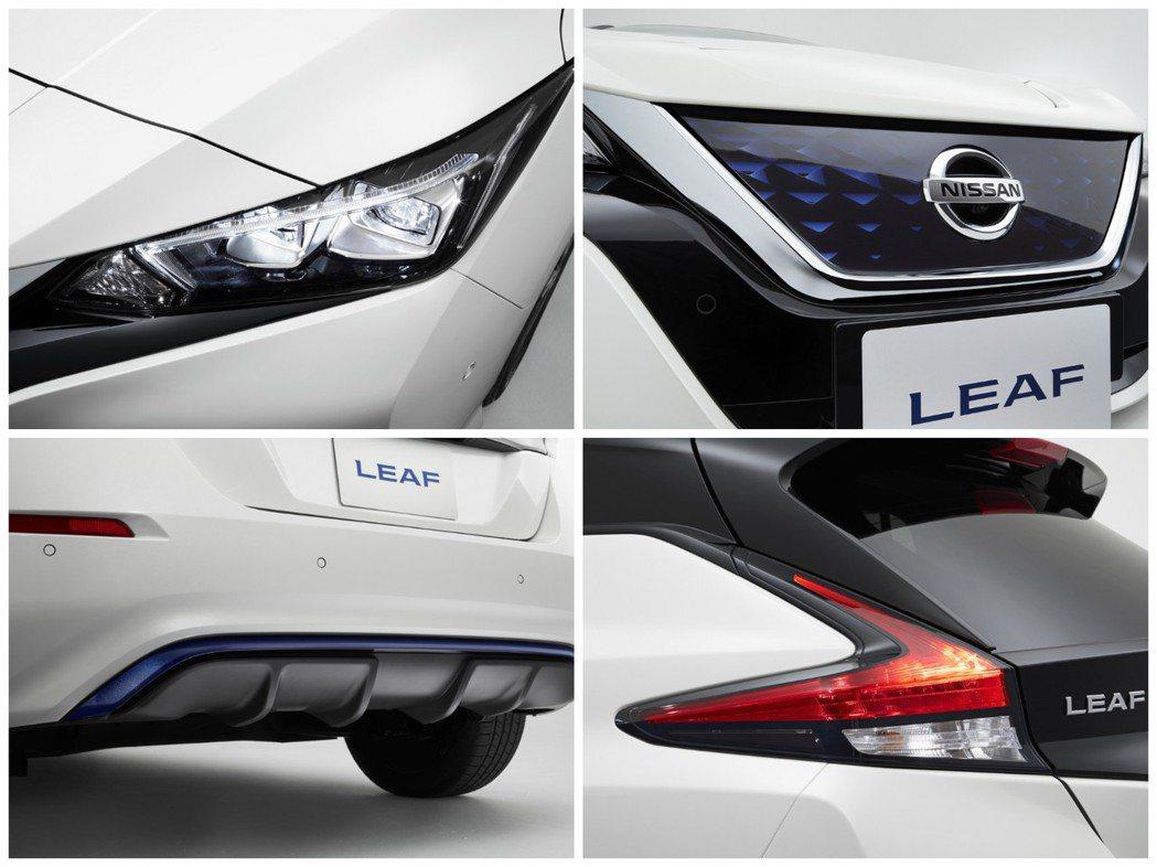 Nissan Leaf 外觀。 摘自Nissan