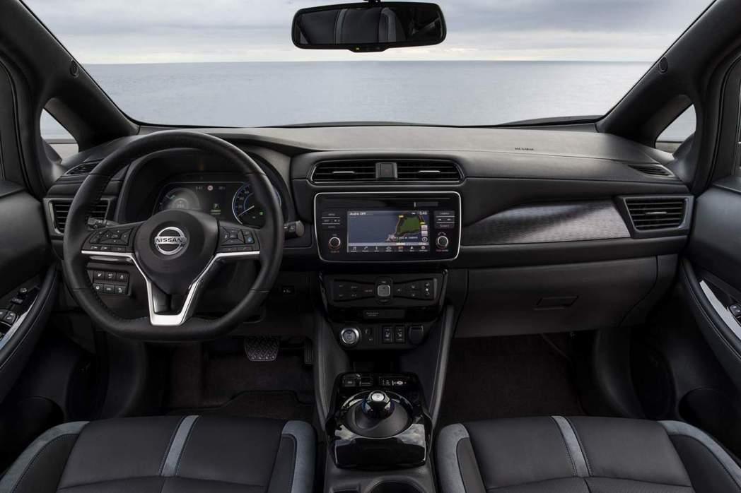 Nissan Leaf 內裝。 摘自Nissan