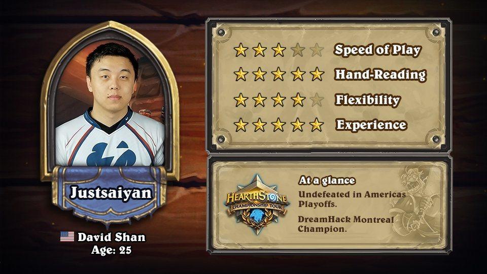 美國選手Justsaiyan/經驗老道5顆星