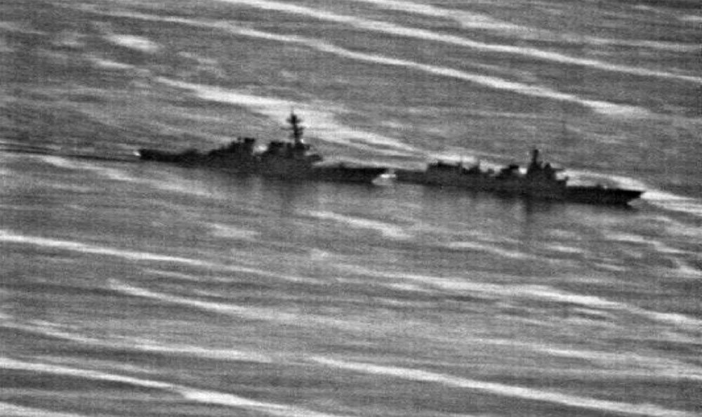 中國軍艦艇以危險的動作攔截美艦,讓美國軍方怒不可遏。 Us Navy phot
