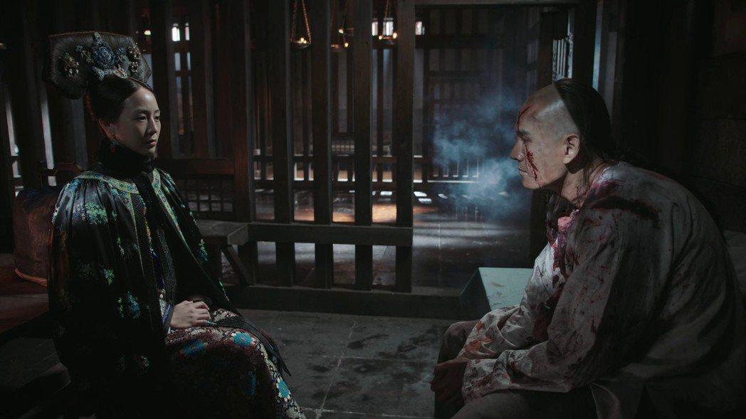 張鈞甯(左)飾演的「海蘭」送凌雲徹上路。圖/截圖自愛奇藝台灣站
