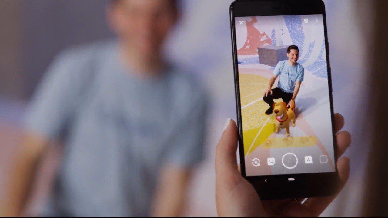 Google Pixel 3系列的「Playground」功能可在相片、影片中加...