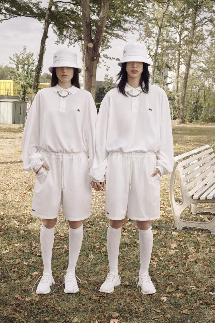 LACOSTE 2019春夏系列用POLO衫套裝搭出時尚感。圖/LACOSTE提...