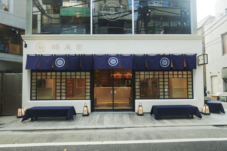 蜷尾家/NINAO三軒茶屋店設計融入日式傳統氛圍。圖/蜷尾家提供