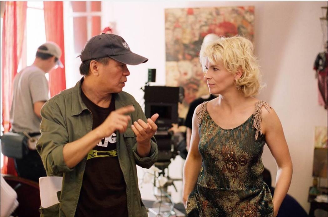 侯孝賢(左)曾執導「紅氣球」。本報資料照
