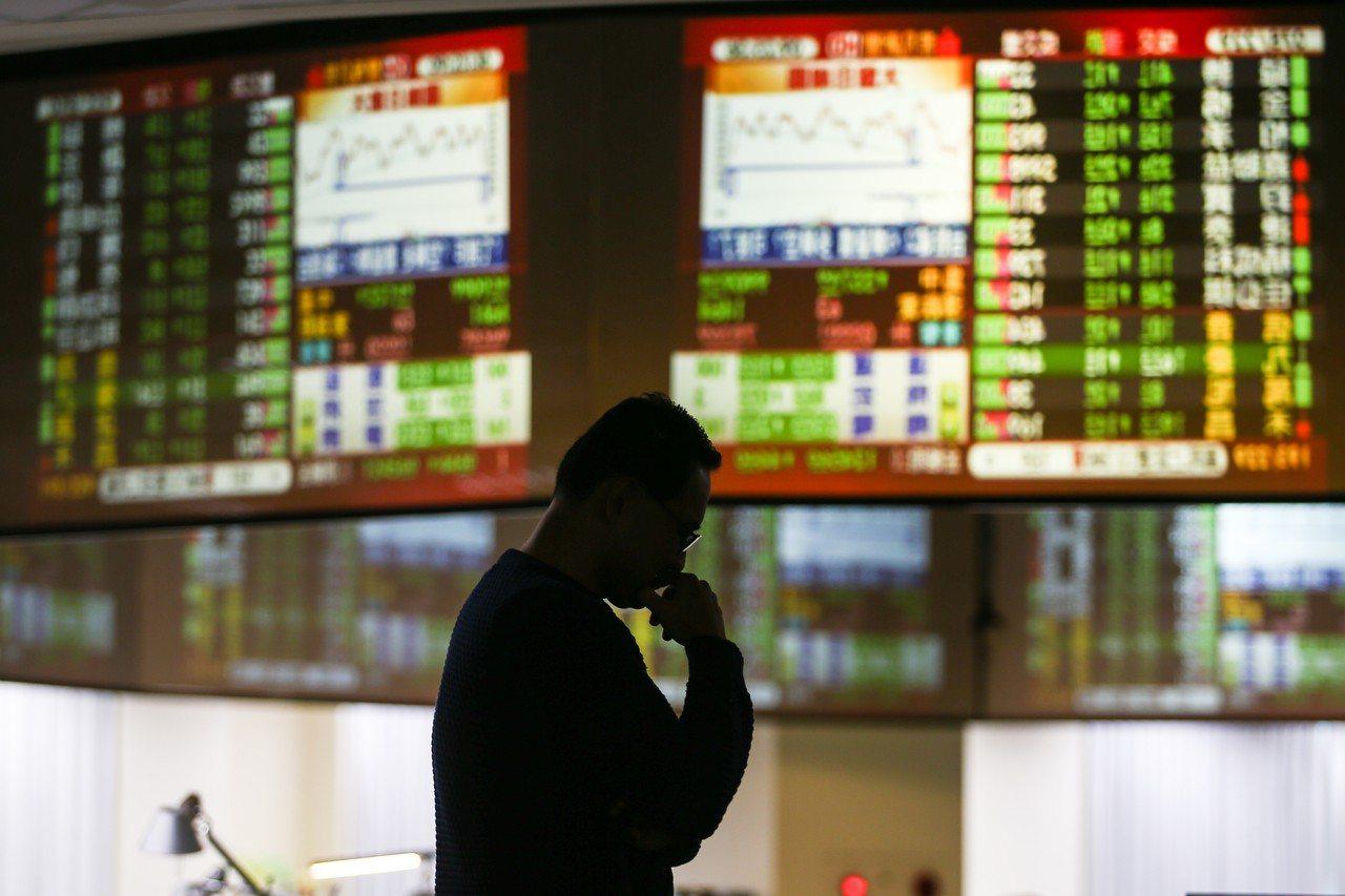 今日台股加權指數早盤重挫逾500點,摜破萬點大關。記者王騰毅/攝影