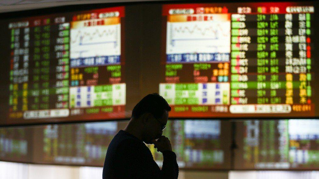 美中貿易戰劍拔弩張影響,台股指數26日早盤一度重挫逾170點。 報系資料照