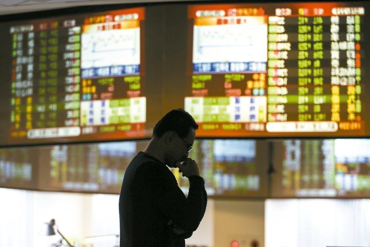 今日台股加權指數早盤重挫逾660點,正式摜破萬點大關。 記者王騰毅/攝影