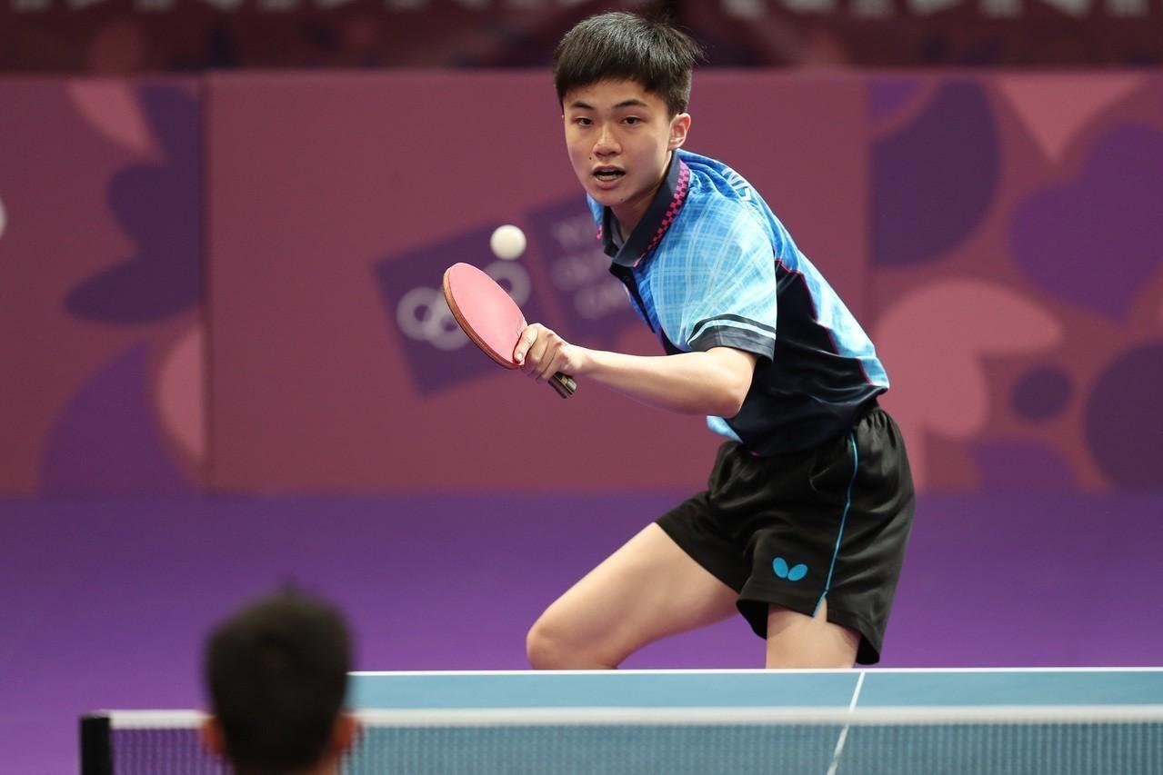 我國17歲桌球「天才少年」林昀儒。 中央社