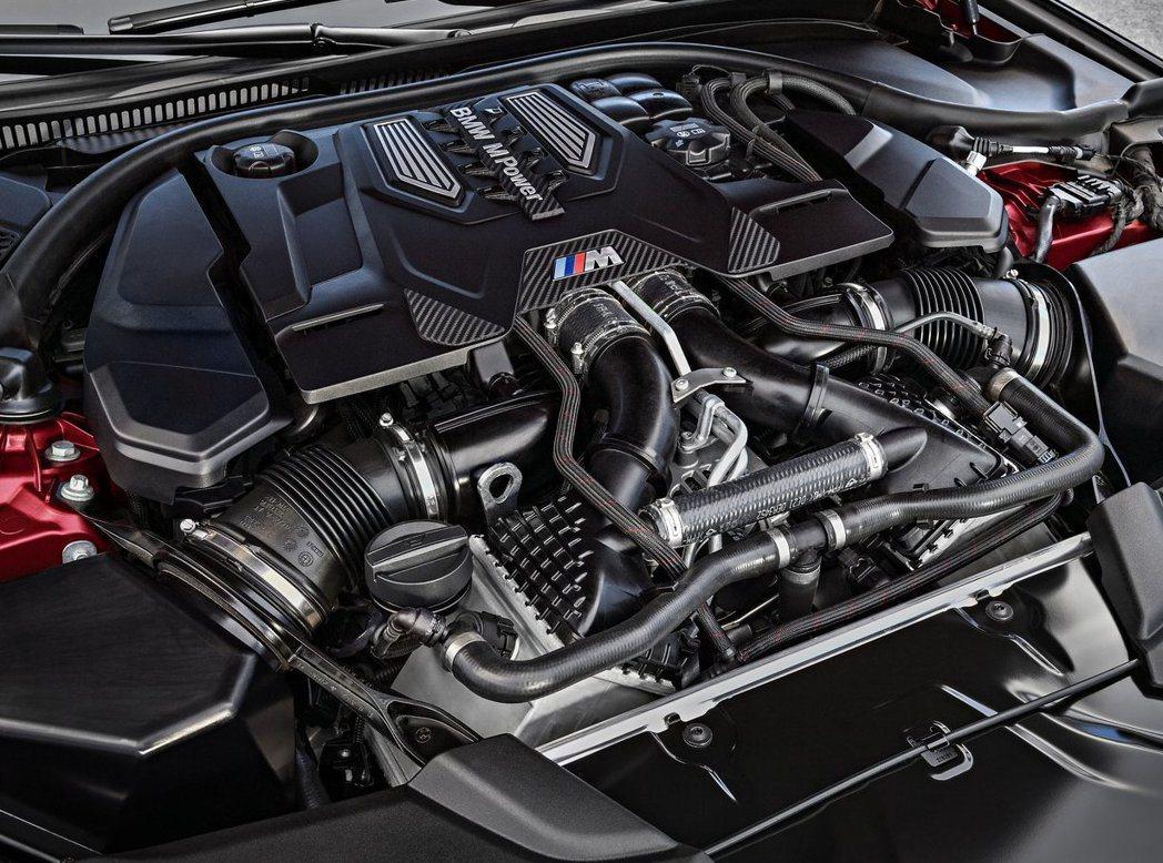 BMW現行4.4升V8引擎也有裝載於新M5上。 摘自BMW